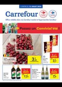 Prospectus Carrefour Market HUY Av du Bosquet : folder Carrefour Market