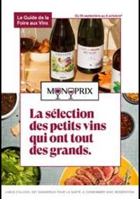 Prospectus Monoprix LE VESINET : La sélection des petits vins qui ont tout des grands.