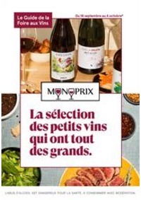 Prospectus Monoprix LA CELLE SAINT CLOUD : La sélection des petits vins qui ont tout des grands.