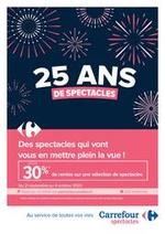 Prospectus Carrefour : 25 ans de spectacle