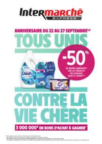 Prospectus Intermarché Express PARIS Vitruve : TOUS UNIS CONTRE LA VIE CHÈRE
