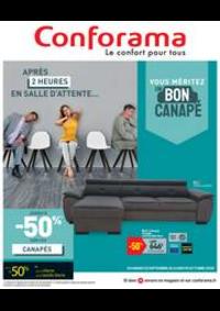Prospectus Conforama COLOMBES : Vouz méritez un bon canapé