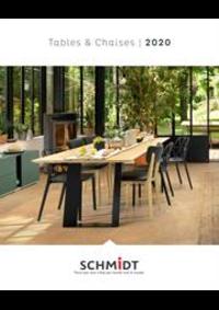 Prospectus Cuisines Schmidt KINGERSHEIM : Les tables et chaises 2020