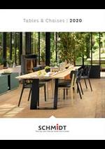 Prospectus Cuisines Schmidt : Les tables et chaises 2020