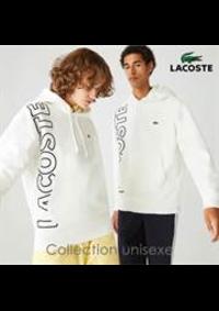 Prospectus Lacoste Paris 37 Bd des capucines : Collection unisexe