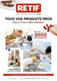 Prospectus Retif Paris : Métiers alimentaires 2020