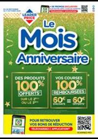 Prospectus Leader Price Saint-Leu-la-Forêt : Le mois anniversaire