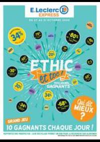 Prospectus E.Leclerc SAINT LOUIS : Ethic et toc!