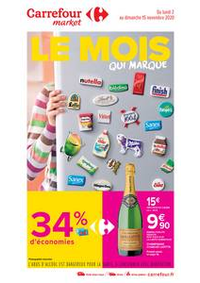 Promos et remises Carrefour Market MARSEILLE Belle de Mai : Le mois qui marque
