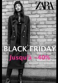 Catalogues et collections ZARA LE CHESNAY : Jusqu'a 40% Zara Black Friday
