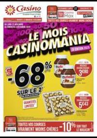 Prospectus Supermarchés Casino PARIS 28 - 34 rue de Ménilmontant : Le mois Casinomania