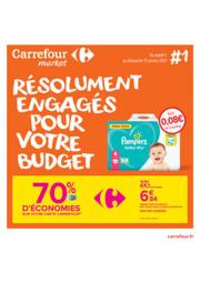 Prospectus Carrefour Market LES ROUSSES : Résolument engagés pour votre budget