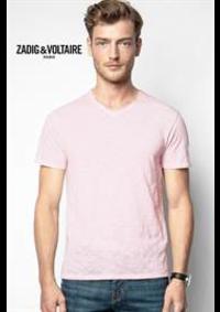Prospectus Zadig et Voltaire PARIS 21 cours de Vincennes : Collection T-Shirts / Homme