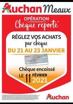 Prospectus Auchan : cheque reporte