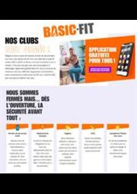 Prospectus Basic-Fit Epinay-Sur-Seine : Nos clubs sont fermés!
