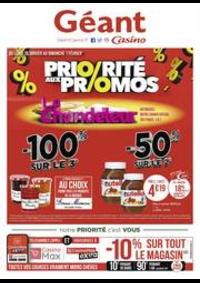 Prospectus Géant Casino PONTARLIER : Priorité aux promos