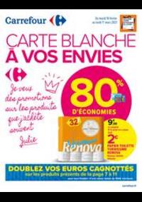 Promos et remises Carrefour Market GUYANCOURT : CARTE BLANCHE A VOS ENVIES