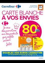 Promos et remises Carrefour Market : CARTE BLANCHE A VOS ENVIES