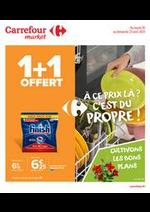 Prospectus Carrefour Market : À ce prix là ? C'est du propre !