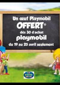 Prospectus La grande Récré PARIS 120 rue d'Alésia : Un œuf Playmobil offert