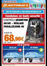 Prospectus Autobacs : Conduisez en toute sécurité!