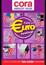 Prospectus Cora : La foire à l'euro - Eurofestival 08-06