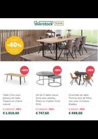 Prospectus Overstock Home Braine l'Alleud : Jusqu'a -40% sur chaises