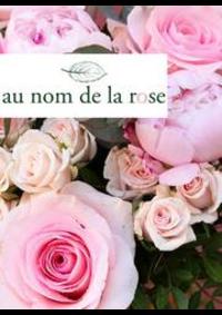 Prospectus Au nom de la rose Paris 46 rue du Bac : Nouveautés