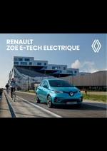 Prospectus Renault : Renault Zoe E-Tech Electrique