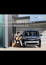 Prospectus Renault : Reanault Kangoo Express & Nouveau Kangoo Z.E.