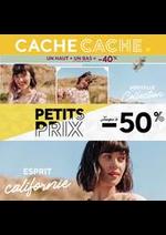 Prospectus Cache Cache : NOUVELLES OFFRES