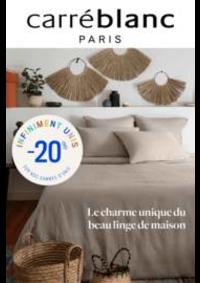 Prospectus Carré blanc Paris VALENCE : Carré Blanc - Le charme du linge de maison!