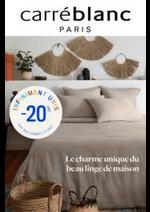 Prospectus Carré Blanc : Carré Blanc - Le charme du linge de maison!