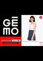 Prospectus Gemo : Déstockage Jusqu'à -70%!!