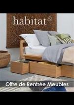 Prospectus Habitat : Offre de Rentrée Meubles