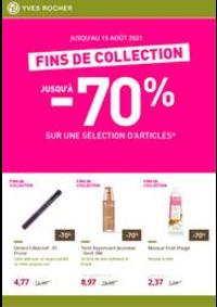 Prospectus Yves Rocher Parinor : Fins de collection : votre sélection de produits de beauté jusqu'à -70%