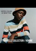 Prospectus Benetton : Nouvelle Collection / Homme