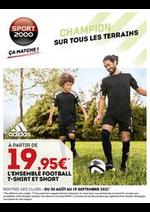 Prospectus Sport 2000 : Catalogue Dépliant Rentrée Des Clubs