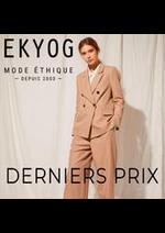 Prospectus Ekyog : DERNIERS PRIX