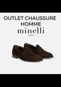 Prospectus Minelli Paris 34 rue de la verrerie : OUTLET CHAUSSURE HOMME