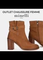 Prospectus Minelli : OUTLET CHAUSSURE FEMME