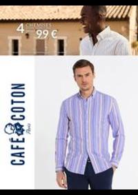 Prospectus Café Coton PARIS 62 rue de Saintonge : Café Coton 4 Chemises 99€