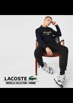 Prospectus Lacoste : Nouvelle Collection / Homme