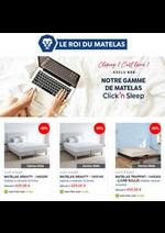 Prospectus Le Roi du Matelas : Click'n Sleep Promotions