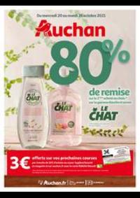 Prospectus Auchan Epinay sur Seine : 80% de remise sur le 2ème produit au choix de la gamme douche et savon